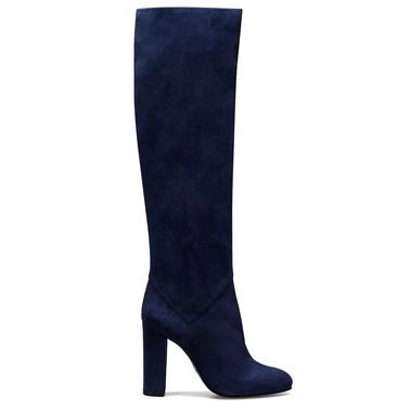 Nine West Yüksek Topuklu Çizme Mavi